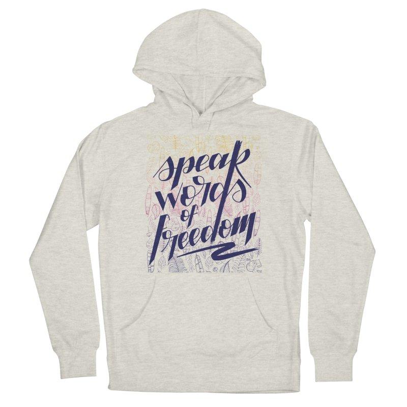 Speak words of freedom - blue version Women's Pullover Hoody by Andrea Garrido V - Shop