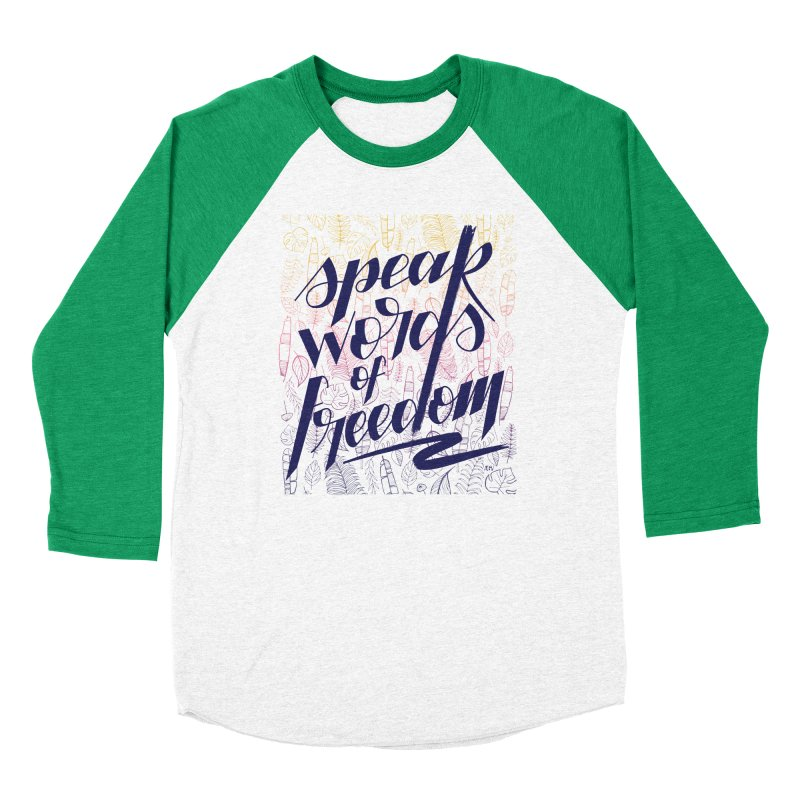 Speak words of freedom - blue version Men's Longsleeve T-Shirt by Andrea Garrido V - Shop