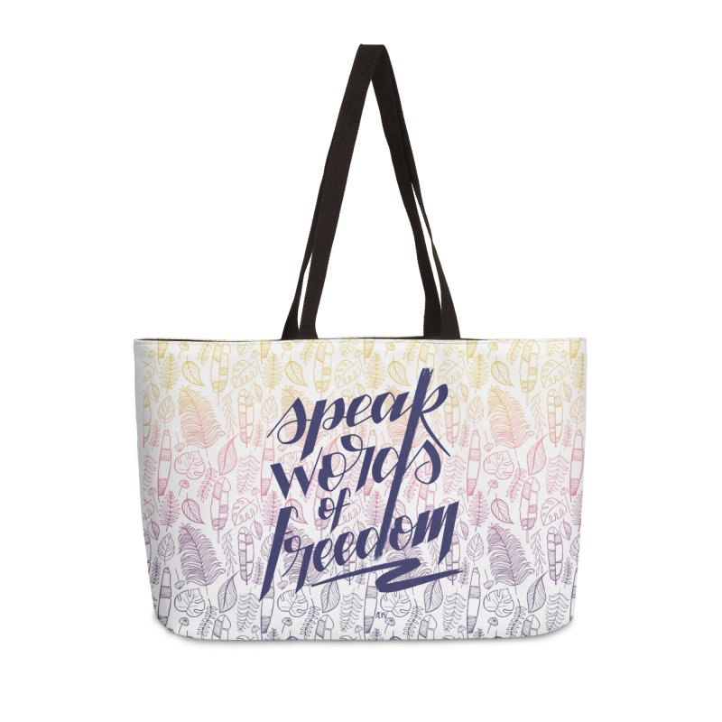 Speak words of freedom - blue version Accessories Bag by Andrea Garrido V - Shop