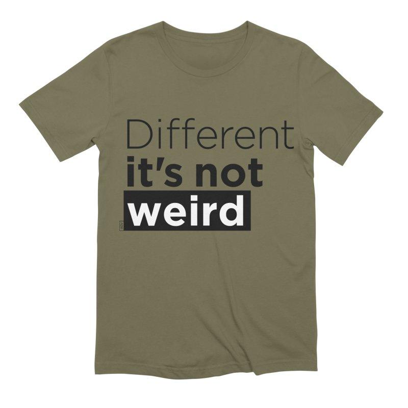 Different it's not weird Men's Extra Soft T-Shirt by Andrea Garrido V - Shop