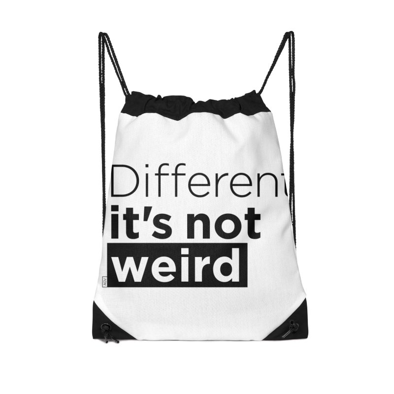 Different it's not weird Accessories Drawstring Bag Bag by Andrea Garrido V - Shop