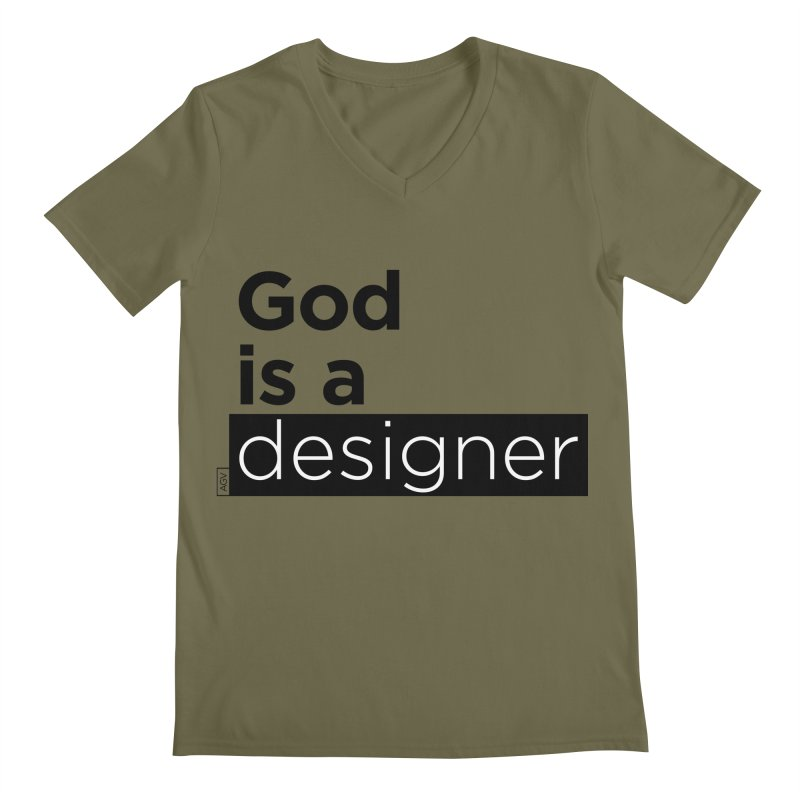 God is a designer Men's Regular V-Neck by Andrea Garrido V - Shop