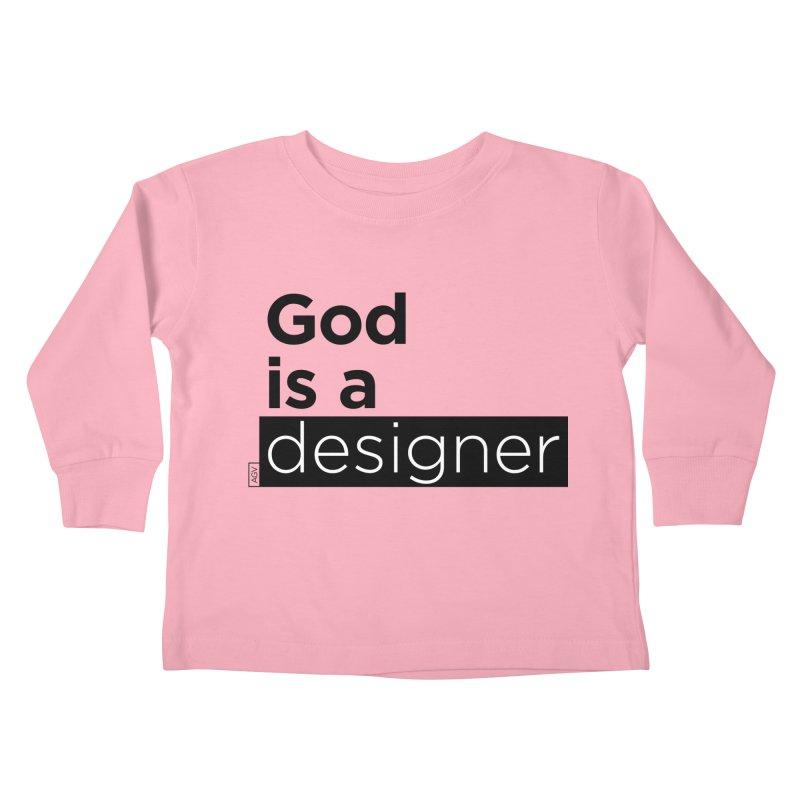 God is a designer Kids Toddler Longsleeve T-Shirt by Andrea Garrido V - Shop