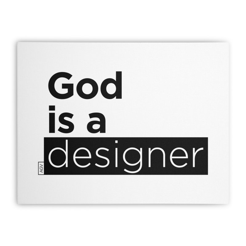 God is a designer Home Stretched Canvas by Andrea Garrido V - Shop