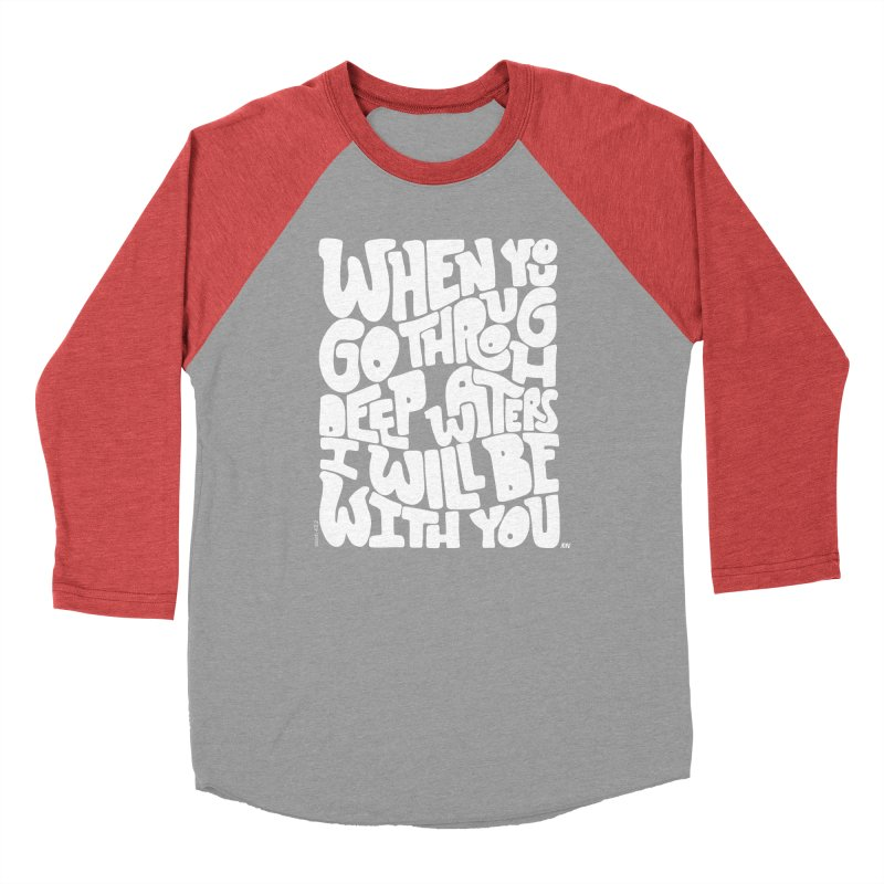 Through deep waters God is with you Men's Longsleeve T-Shirt by Andrea Garrido V - Shop