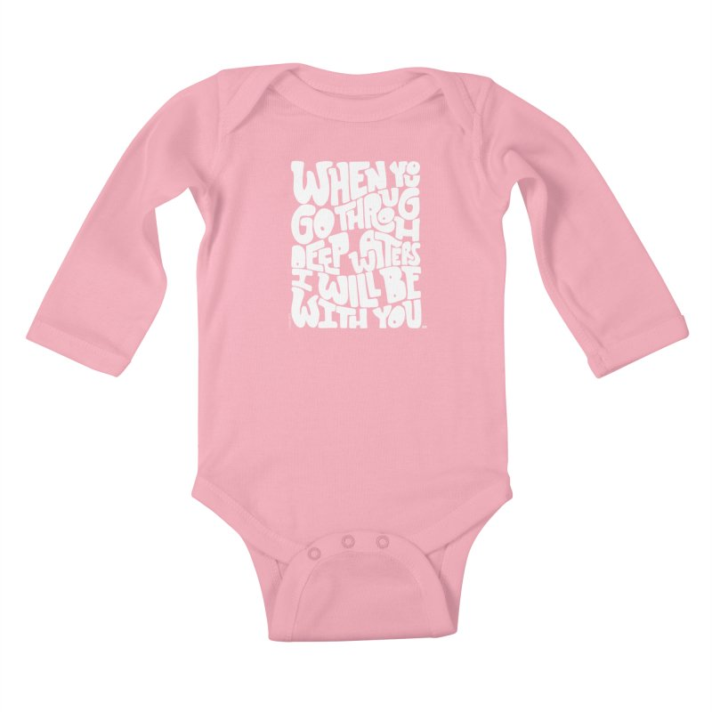 Through deep waters God is with you Kids Baby Longsleeve Bodysuit by Andrea Garrido V - Shop