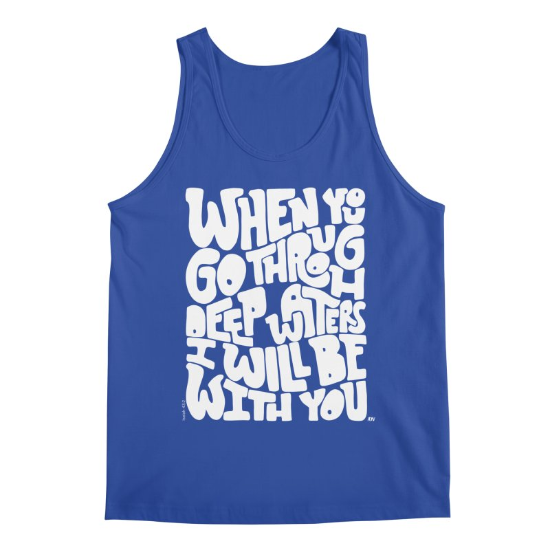 Through deep waters God is with you Men's Regular Tank by Andrea Garrido V - Shop