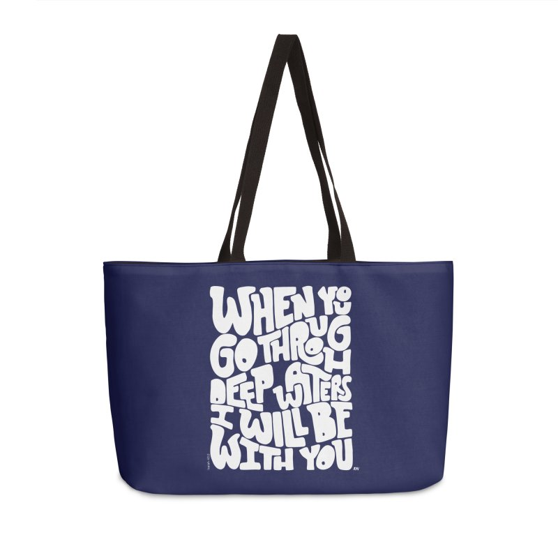 Through deep waters God is with you Accessories Bag by Andrea Garrido V - Shop