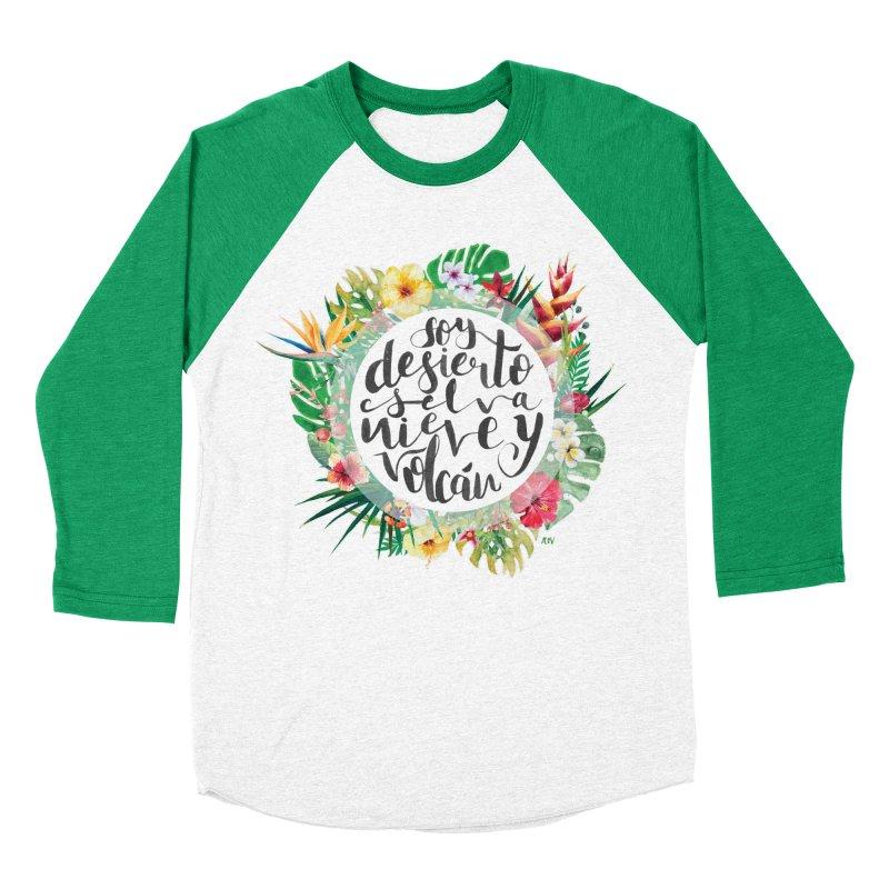 Venezuela: desierto, selva, nieve y volcán Women's Baseball Triblend Longsleeve T-Shirt by Andrea Garrido V - Shop