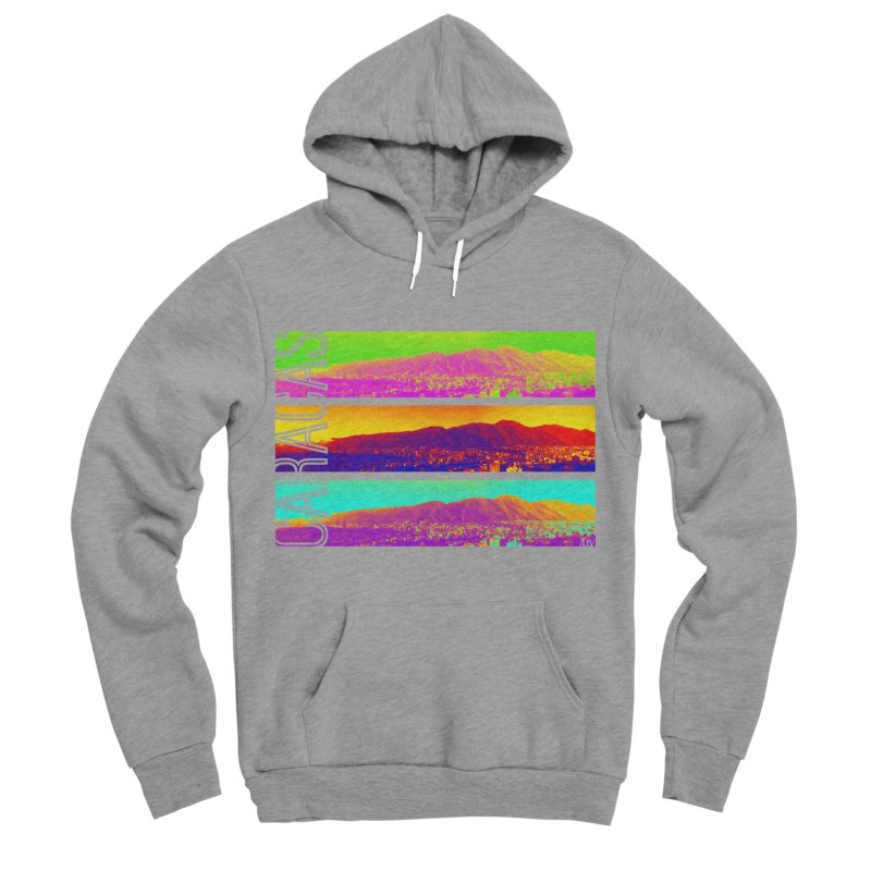 Caracas de colores Men's Sponge Fleece Pullover Hoody by Andrea Garrido V - Shop