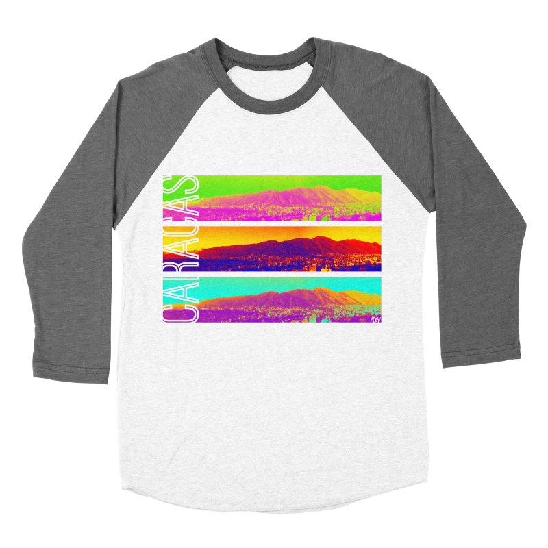 Caracas de colores Women's Baseball Triblend Longsleeve T-Shirt by Andrea Garrido V - Shop