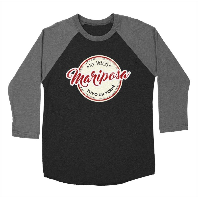 La vaca Mariposa tuvo un terné Men's Baseball Triblend Longsleeve T-Shirt by Andrea Garrido V - Shop