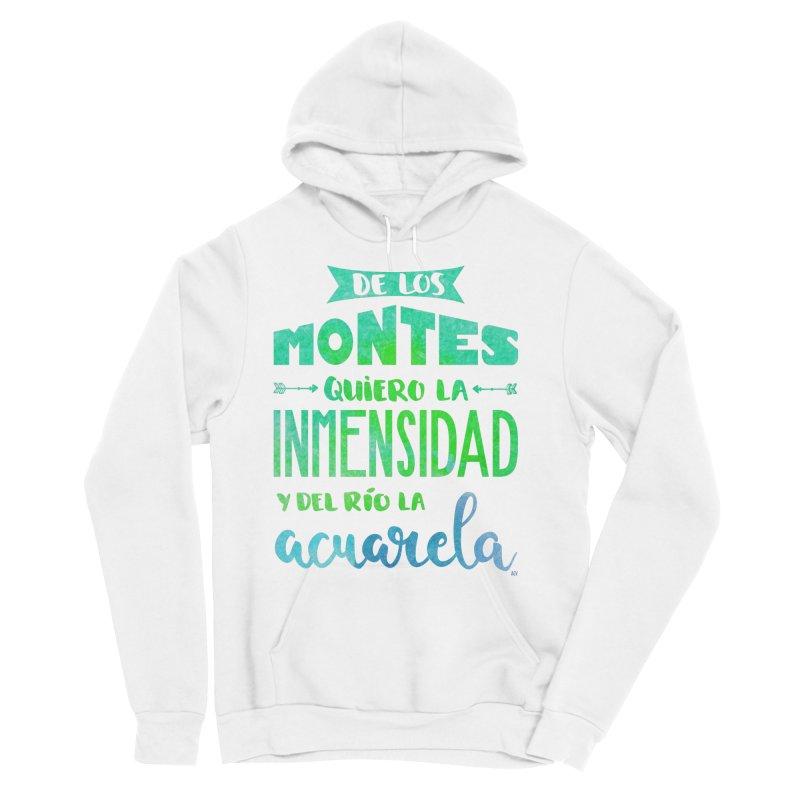 """""""De los montes quiero la inmensidad"""" Men's Pullover Hoody by Andrea Garrido V - Shop"""
