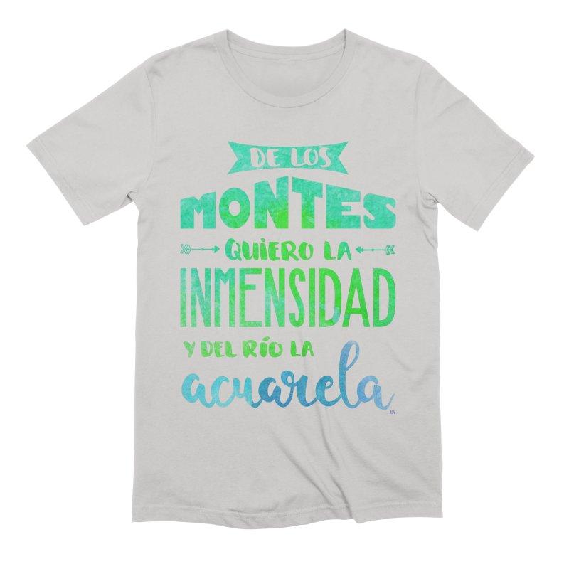 """""""De los montes quiero la inmensidad"""" Men's Extra Soft T-Shirt by Andrea Garrido V - Shop"""