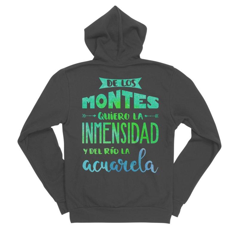 """""""De los montes quiero la inmensidad"""" Women's Sponge Fleece Zip-Up Hoody by Andrea Garrido V - Shop"""