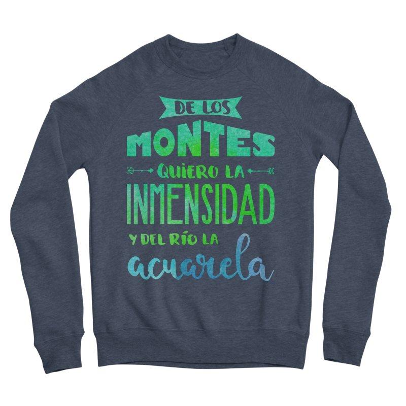 """""""De los montes quiero la inmensidad"""" Women's Sponge Fleece Sweatshirt by Andrea Garrido V - Shop"""