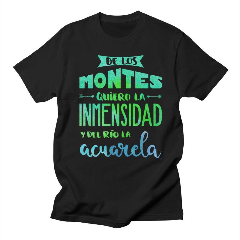 """""""De los montes quiero la inmensidad"""" Women's Regular Unisex T-Shirt by Andrea Garrido V - Shop"""