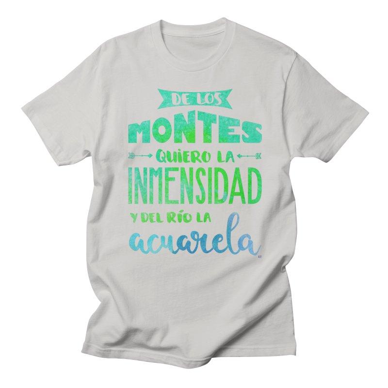 """""""De los montes quiero la inmensidad"""" Men's Regular T-Shirt by Andrea Garrido V - Shop"""