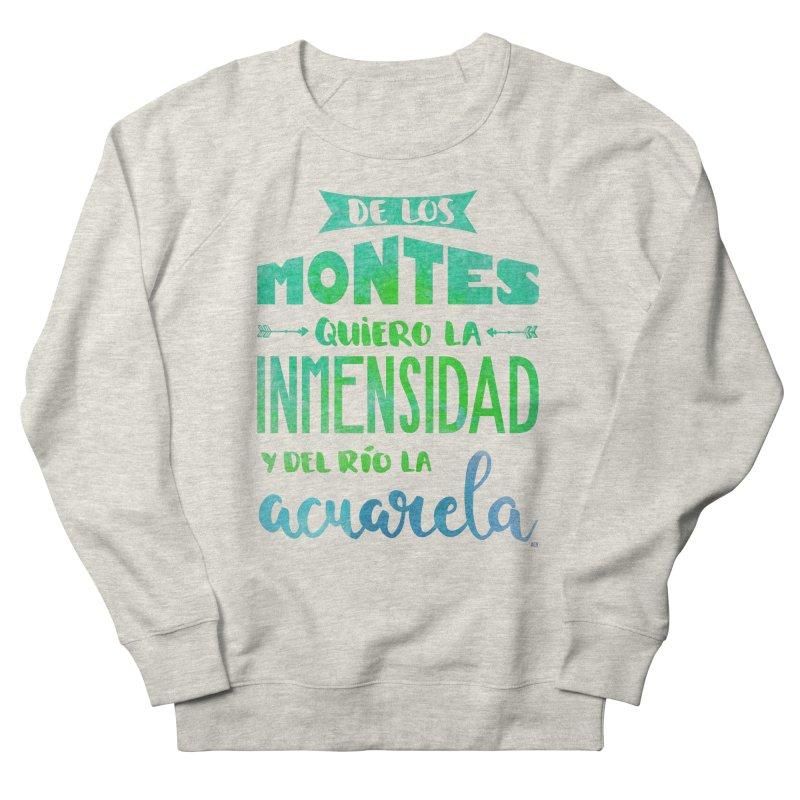 """""""De los montes quiero la inmensidad"""" Men's French Terry Sweatshirt by Andrea Garrido V - Shop"""