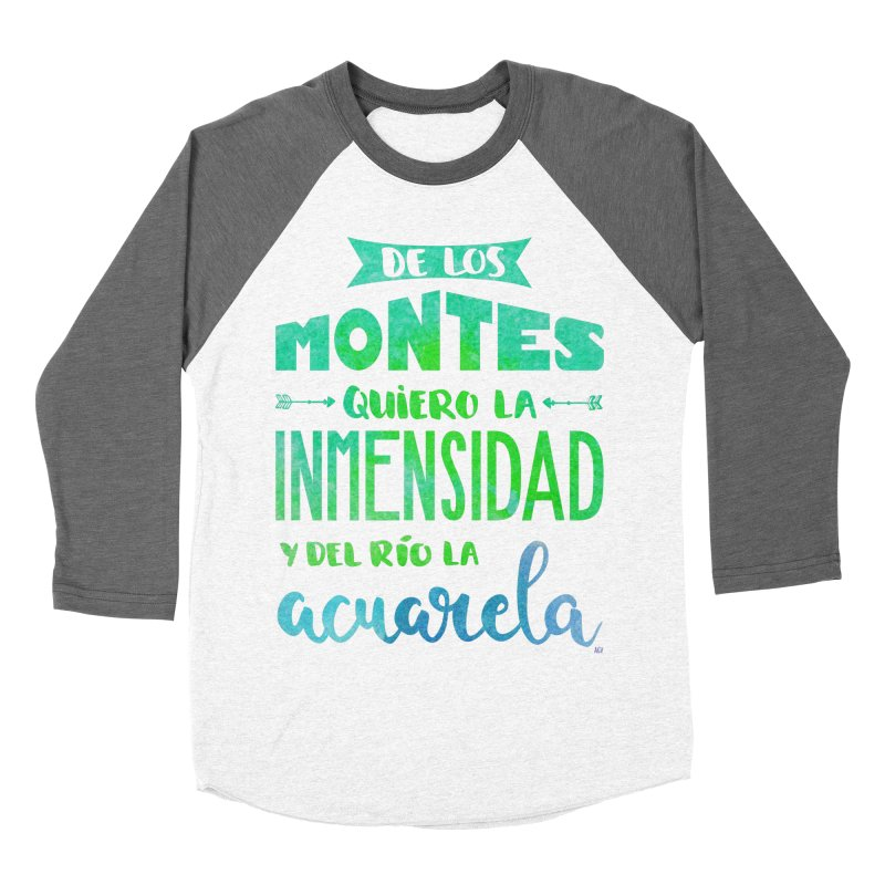 """De los montes quiero la inmensidad"" Men's Baseball Triblend Longsleeve T-Shirt by Andrea Garrido V - Shop"