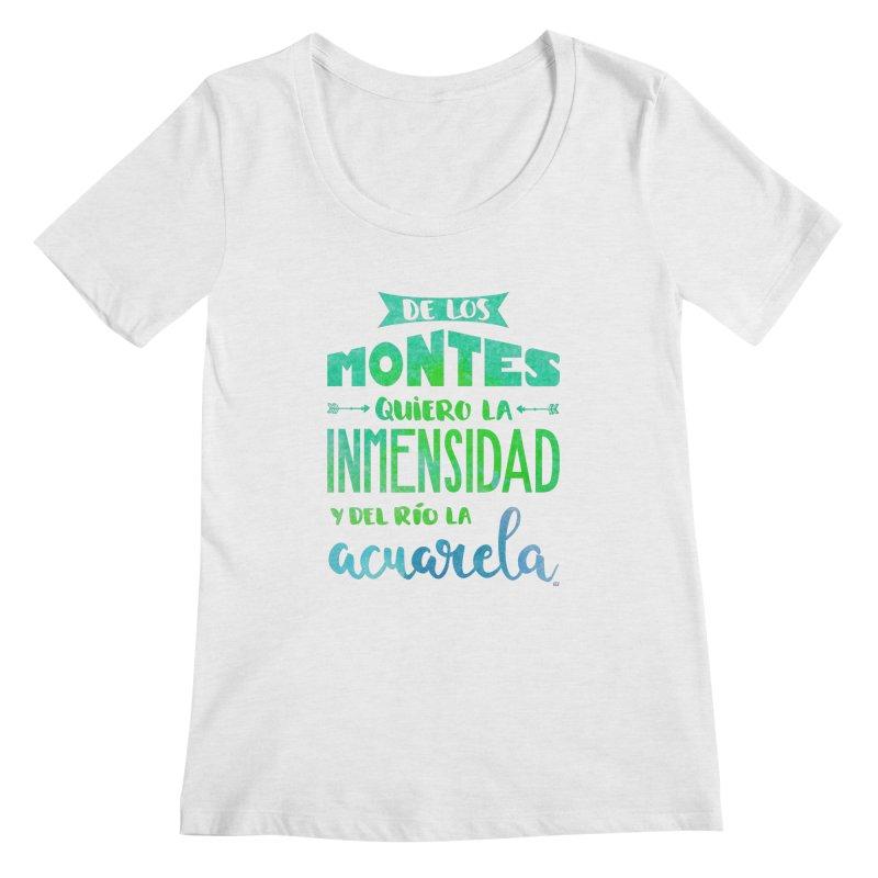 """""""De los montes quiero la inmensidad"""" Women's Regular Scoop Neck by Andrea Garrido V - Shop"""