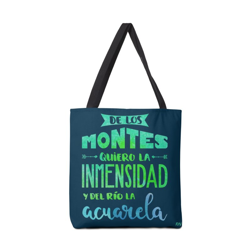 """De los montes quiero la inmensidad"" Accessories Bag by Andrea Garrido V - Shop"