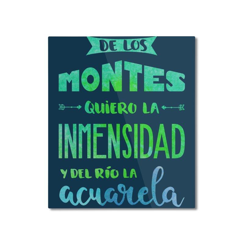 """""""De los montes quiero la inmensidad"""" Home Mounted Aluminum Print by Andrea Garrido V - Shop"""