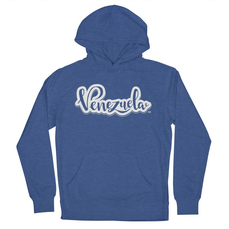 Typo Venezuela (blanco) Men's French Terry Pullover Hoody by Andrea Garrido V - Shop
