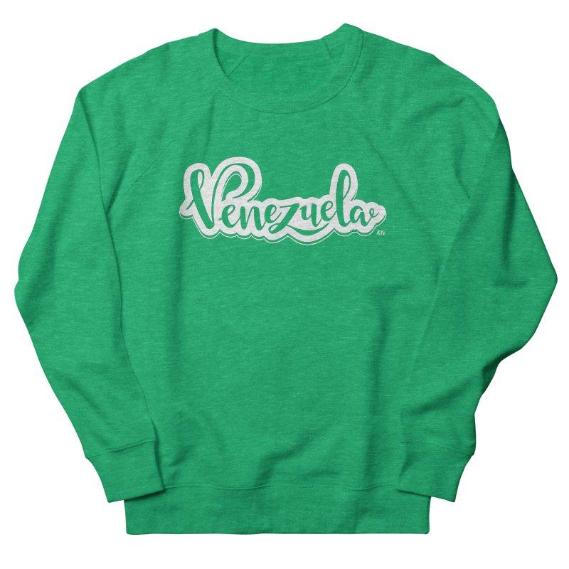 Typo Venezuela (blanco) Women's French Terry Sweatshirt by Andrea Garrido V - Shop