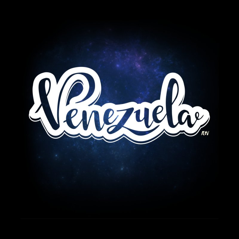 Typo Venezuela (Galaxy) by Andrea Garrido V - Shop