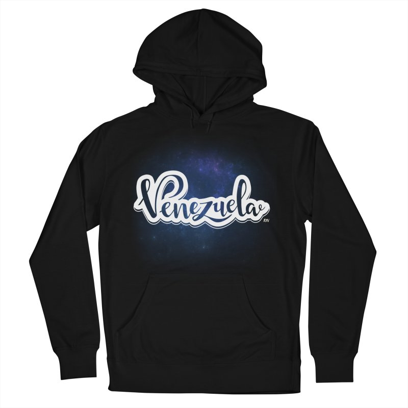 Typo Venezuela (Galaxy) Men's French Terry Pullover Hoody by Andrea Garrido V - Shop