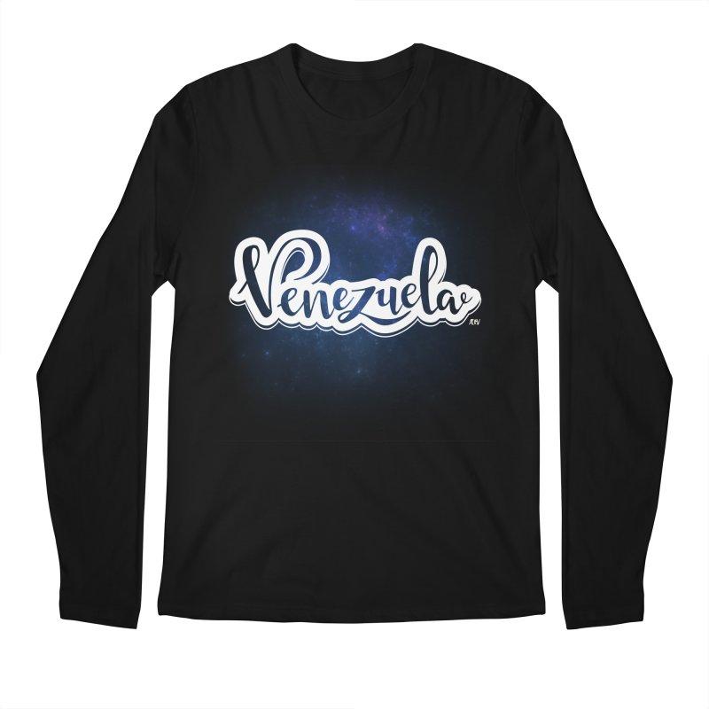 Typo Venezuela (Galaxy) Men's Regular Longsleeve T-Shirt by Andrea Garrido V - Shop