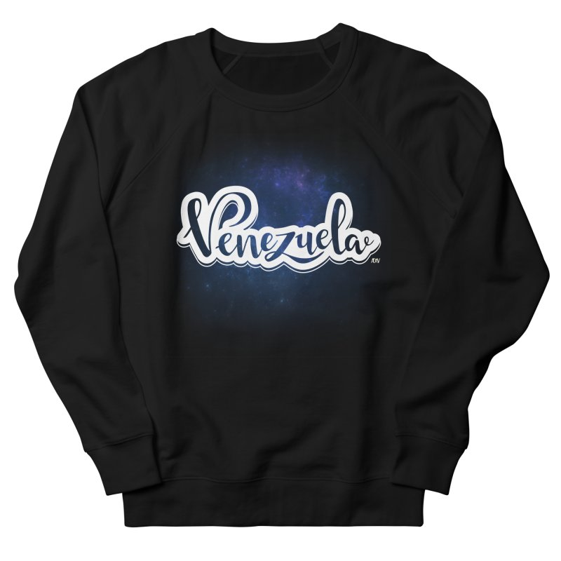 Typo Venezuela (Galaxy) Men's French Terry Sweatshirt by Andrea Garrido V - Shop