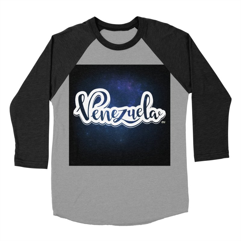 Typo Venezuela (Galaxy) Men's Baseball Triblend Longsleeve T-Shirt by Andrea Garrido V - Shop