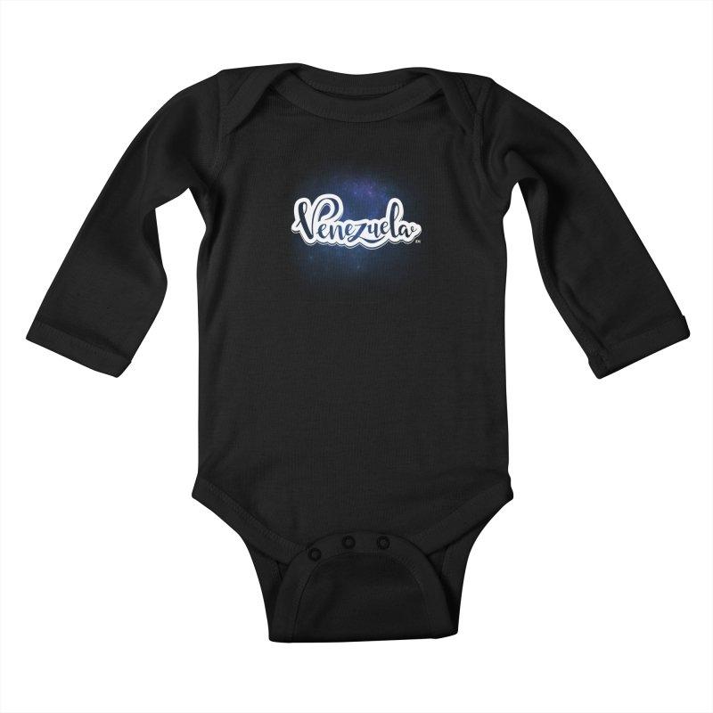 Typo Venezuela (Galaxy) Kids Baby Longsleeve Bodysuit by Andrea Garrido V - Shop