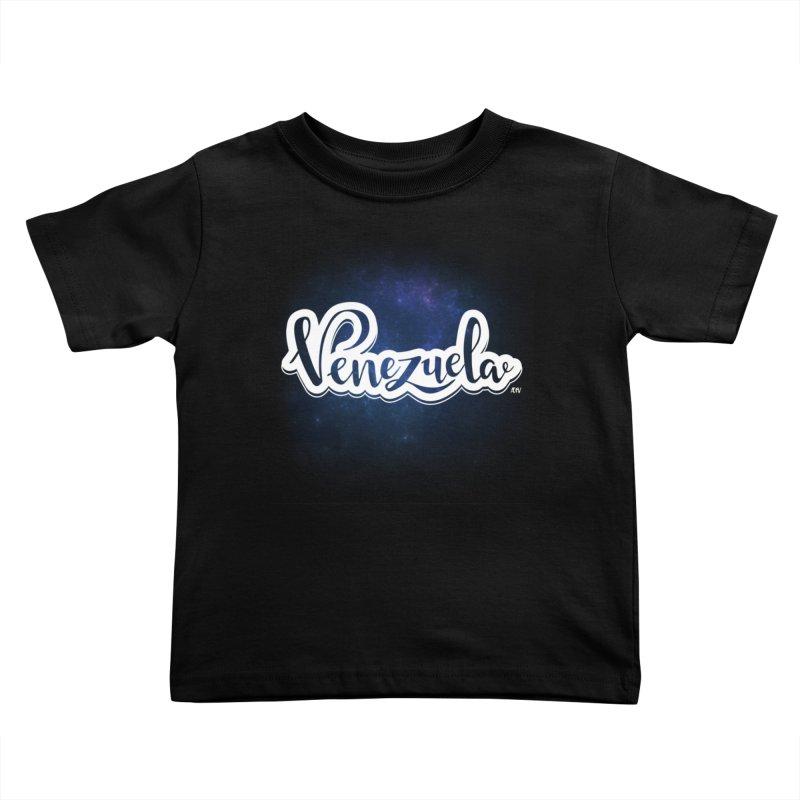 Typo Venezuela (Galaxy) Kids Toddler T-Shirt by Andrea Garrido V - Shop