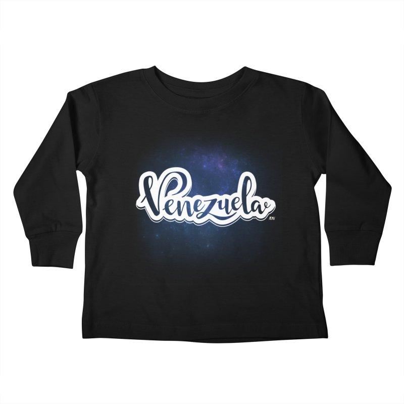 Typo Venezuela (Galaxy) Kids Toddler Longsleeve T-Shirt by Andrea Garrido V - Shop