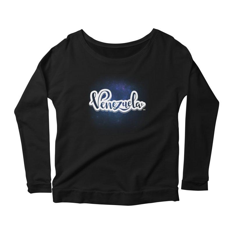Typo Venezuela (Galaxy) Women's Scoop Neck Longsleeve T-Shirt by Andrea Garrido V - Shop