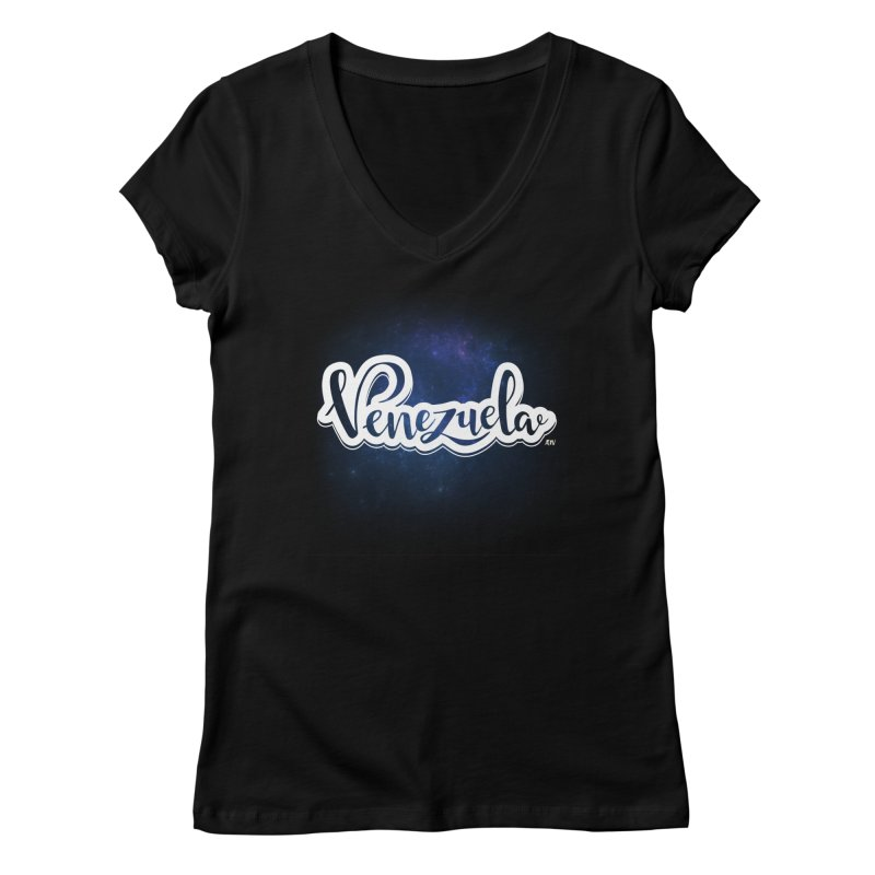 Typo Venezuela (Galaxy) Women's Regular V-Neck by Andrea Garrido V - Shop