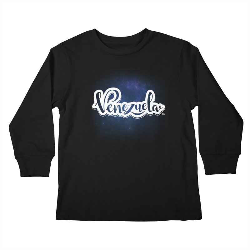 Typo Venezuela (Galaxy) Kids Longsleeve T-Shirt by Andrea Garrido V - Shop