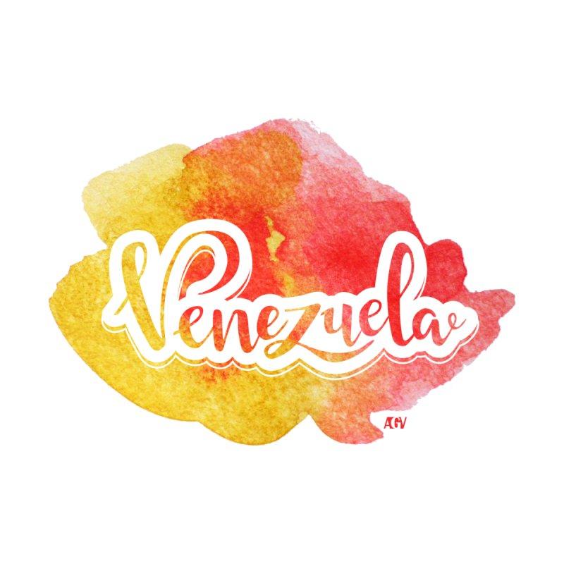Typo Venezuela (acuarela naranja) Men's T-Shirt by Andrea Garrido V - Shop