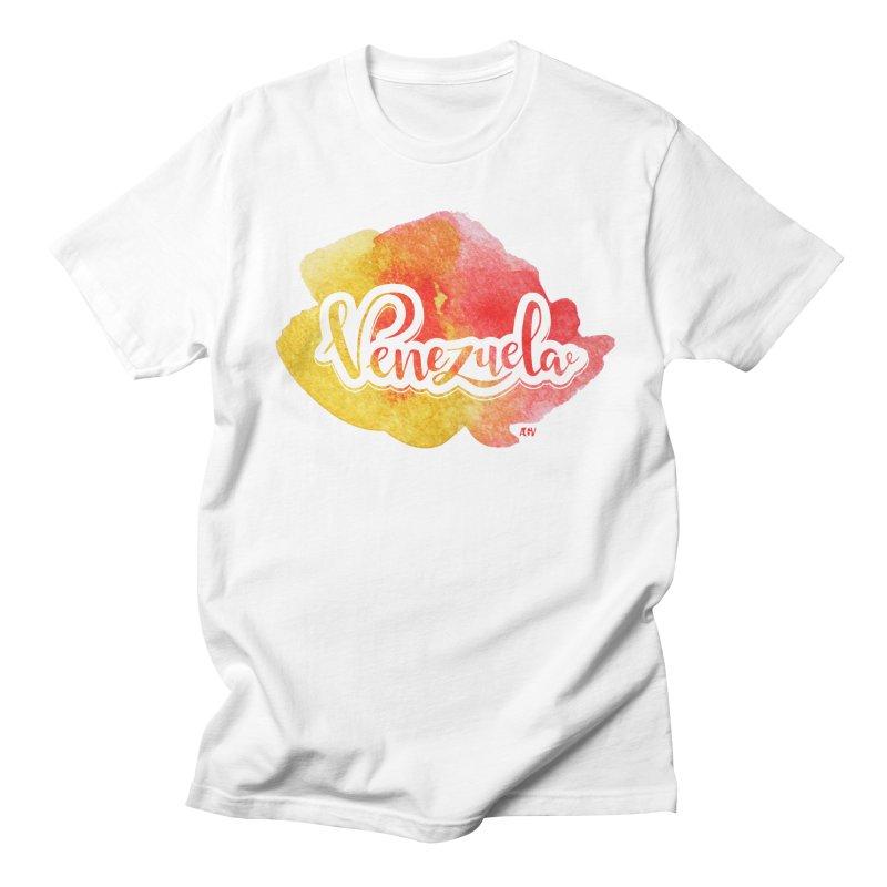 Typo Venezuela (acuarela naranja) Women's Regular Unisex T-Shirt by Andrea Garrido V - Shop