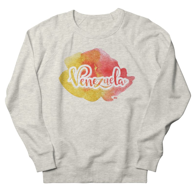 Typo Venezuela (acuarela naranja) Women's French Terry Sweatshirt by Andrea Garrido V - Shop