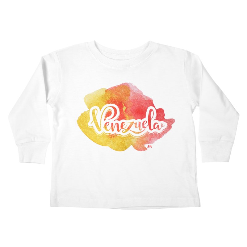 Typo Venezuela (acuarela naranja) Kids Toddler Longsleeve T-Shirt by Andrea Garrido V - Shop