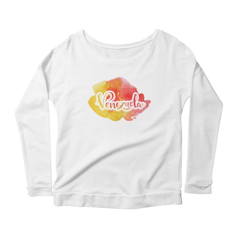 Typo Venezuela (acuarela naranja) Women's Scoop Neck Longsleeve T-Shirt by Andrea Garrido V - Shop