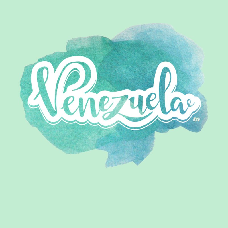 Typo Venezuela (acuarela azul) Women's Tank by Andrea Garrido V - Shop