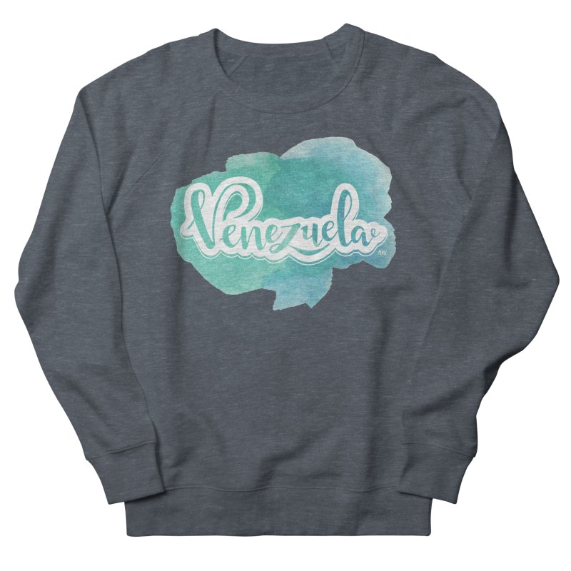 Typo Venezuela (acuarela azul) Women's French Terry Sweatshirt by Andrea Garrido V - Shop