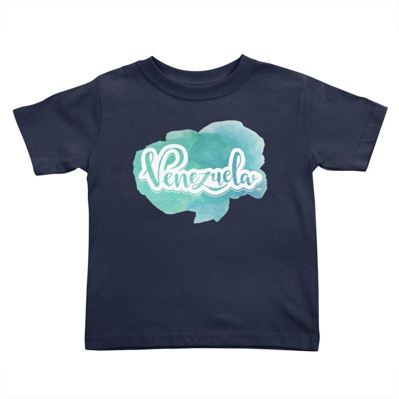 Typo Venezuela (acuarela azul) Kids Toddler T-Shirt by Andrea Garrido V - Shop