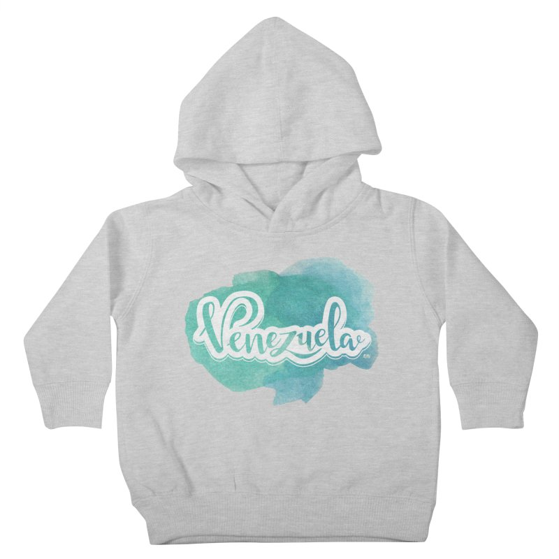 Typo Venezuela (acuarela azul) Kids Toddler Pullover Hoody by Andrea Garrido V - Shop
