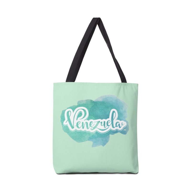 Typo Venezuela (acuarela azul) Accessories Tote Bag Bag by Andrea Garrido V - Shop